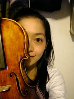 バイオリンをねー。