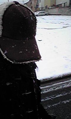 雪とはしゃいで